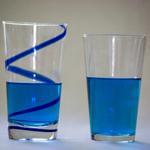 Swirling blue