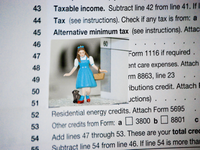 Dorothy AMT tax form