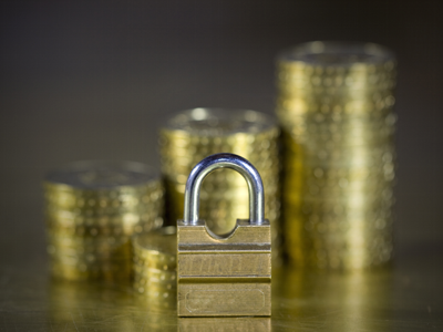 Lock and Gold Coins