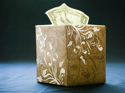 Money Tissue Box