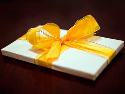 Gift with Yellow Bow