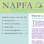 NAPFA Planning Perspectives Nov/Dec 2011