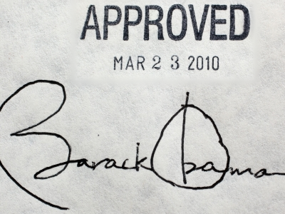 Obamacare approved 3/23/2010