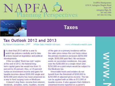 NAPFA Planning Perspectives Jan-Feb 2012