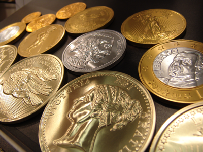 Yes, these are actually chocolate coins
