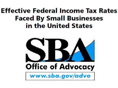 Effective Federal Income Tax Rates Faced By Small Businesses in the United States