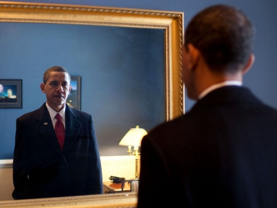 Obama admiring himself