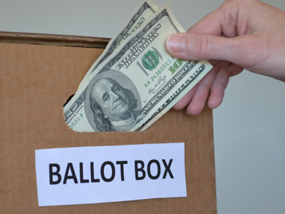 Taking money from the ballot box