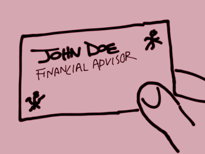 financial advisor card