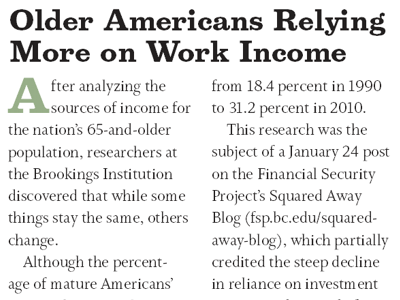 Older americans rely more on work income