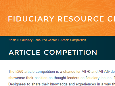 fi360 Competition