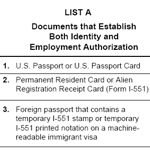 I-9 Government Employment Form
