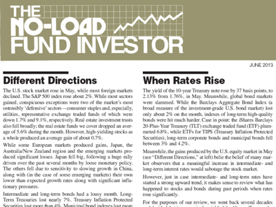 The No-Load Fund Investor June 2013