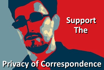 We support the right to the privacy of correspondence!