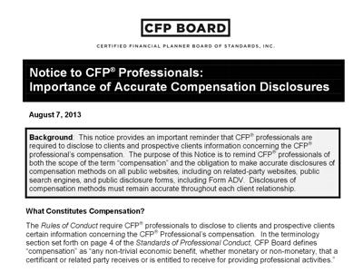 CFP Board Notice