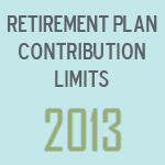 Retirement plan contrib limits 2013
