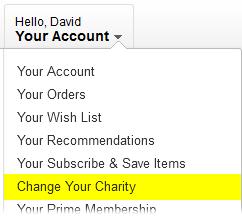 AmazonSmile: Change Your Charity
