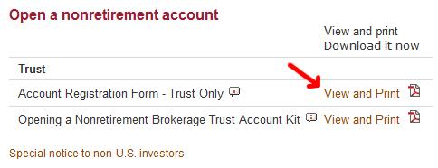 Vanguard Trust Account Registration Form