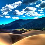 Bright Desert Mountains