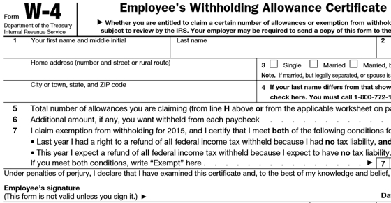 A Guide to Your W-4