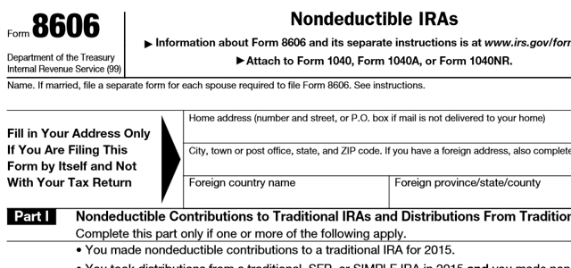 After Tax Ira Contributions Must Be Reported On Irs Form 8606