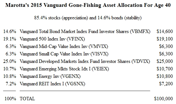 Vanguard Gone Fishing 2015 Portfolio