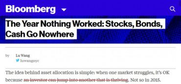 Bloomberg Article Gets Asset Allocation Exactly Wrong