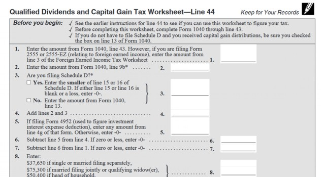 How Your Tax Is Calculated Understanding the Qualified Dividends – Qualified Dividends and Capital Gain Tax Worksheet Fillable
