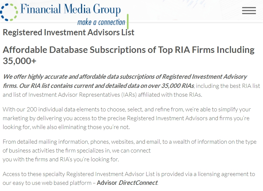 Financial Media Group Website