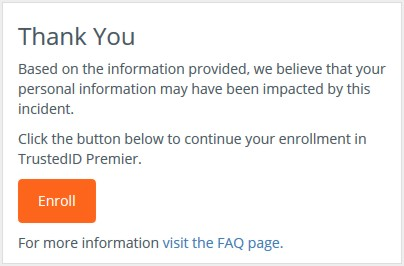 Equifax: You have been impacted.