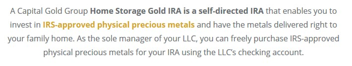 Is a Home Storage Gold IRA Legal? | FiGuide