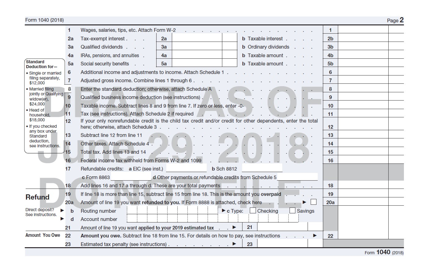 Early Preview of 2019 IRS Forms – Marotta On Money