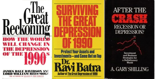 Books that were pessimistic about the 1990s