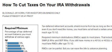 How To Cut Taxes On Your IRA Withdrawals