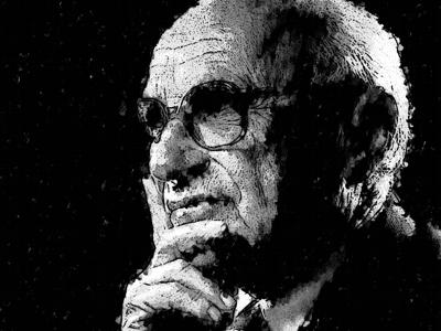Milton Friedman Watercolor