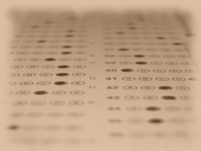 test or quiz scantron