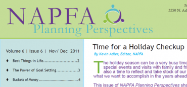 David John Marotta in NAPFA Planning Perspectives Nov/Dec 2011