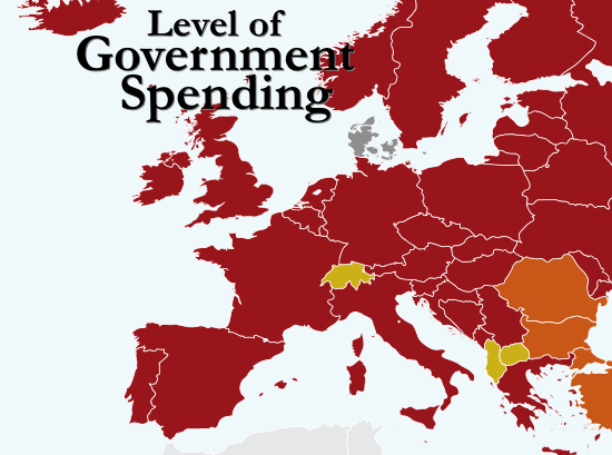 Freedom 2012 Level of Government Spending