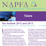Tax Planning from the 2012 January / February issue of Planning Perspectives