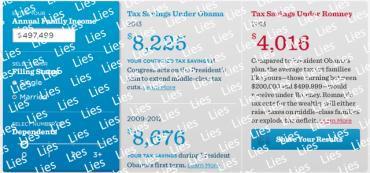 Obama Lie-O-Matic Tax Calculator