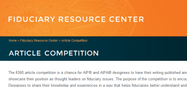 David John Marotta Part of the 2013 AIF Designee Article Competition