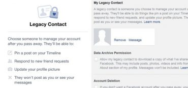Digital Estate Plan: Facebook Legacy Contact