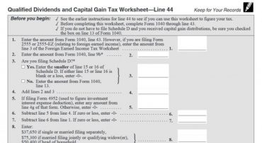 How Your Tax Is Calculated: Understanding the Qualified Dividends and Capital Gains Worksheet