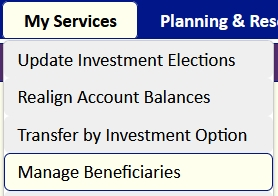 RiversEdge Manage Beneficiaries